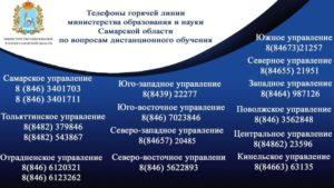 Телефон «Горячей линии» по вопросам организации дистанционного обучения учащихся